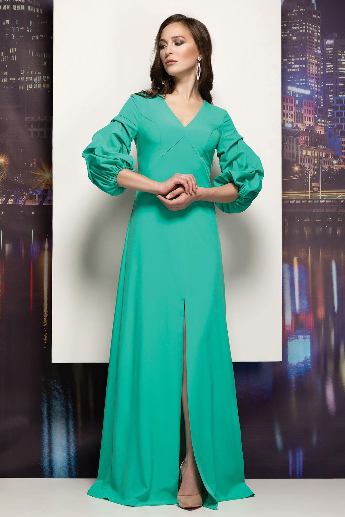89470b5cf50 Вечернее платье в пол с объемными рукавами. RM1855-18VP оптом