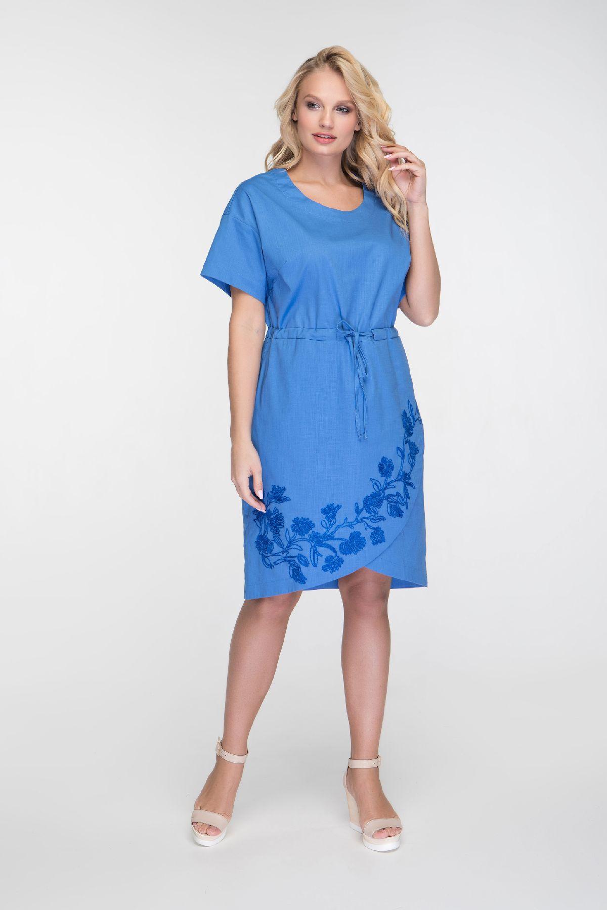 0b078c73ac388c1 Купить летнее платье большого размера RMD1306-B-19DD оптом | Evdress ...