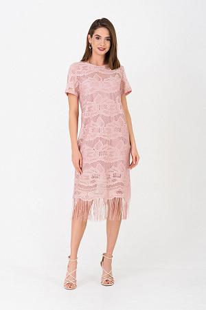 4bad77c678a ... Коктейльное платье с гипюром и бахромой оптом